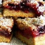 Razzleberry Jam Oatmeal crumb bars