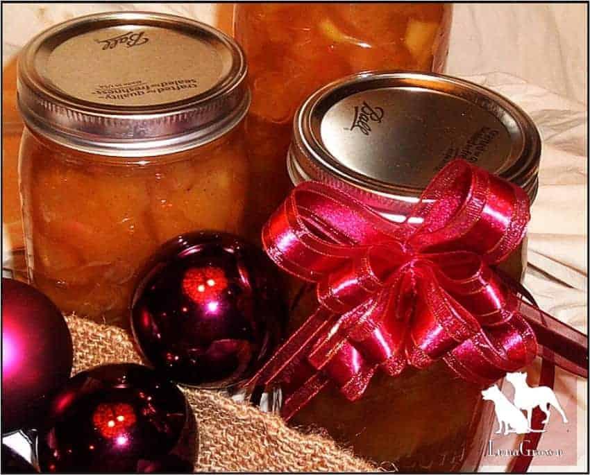 Quart apple jam