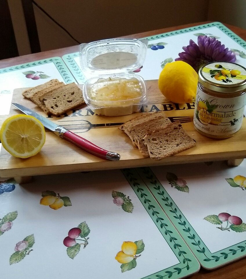 Enjoy Lemon Marmalade with Goat Cheese