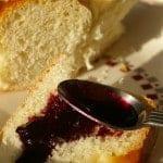 LunaGrown Elderberry Jam on bread
