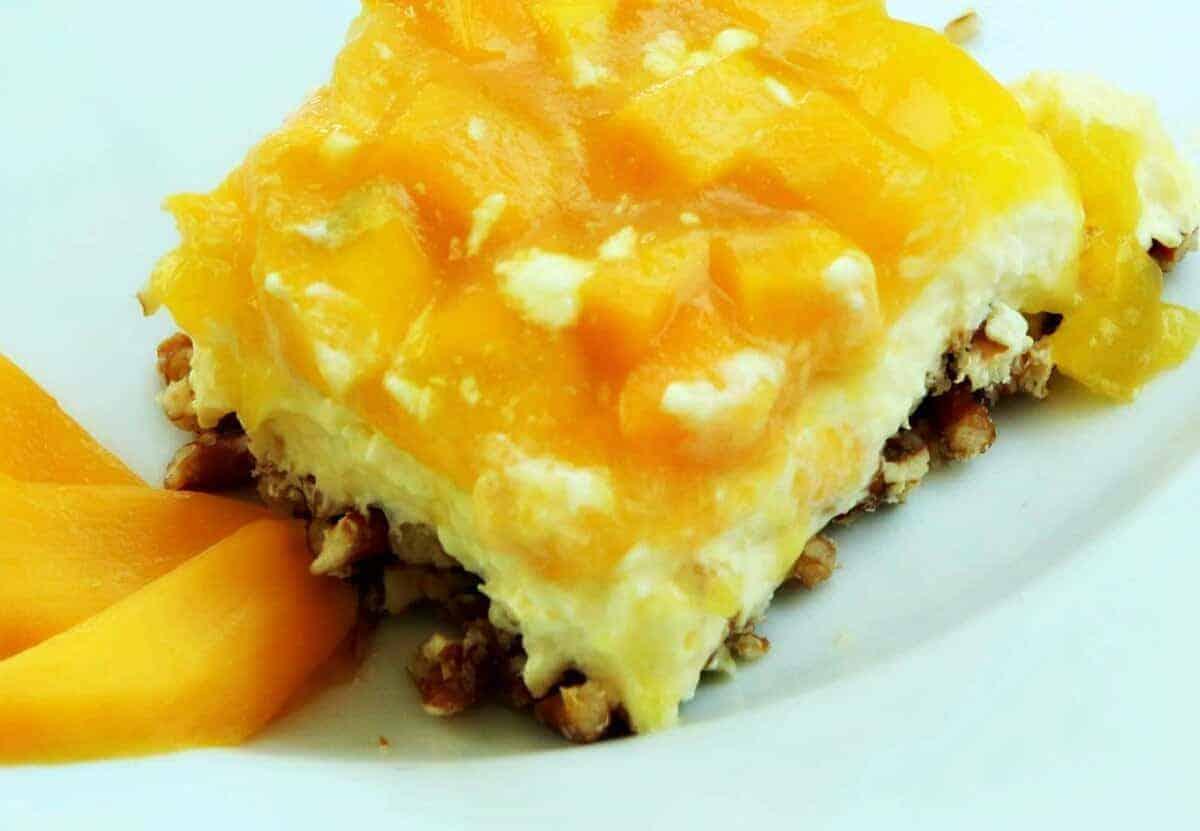 Goat Cheese Mango Tart