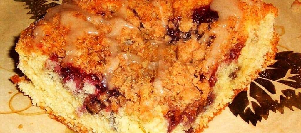 Jam Filled Crumb Cake