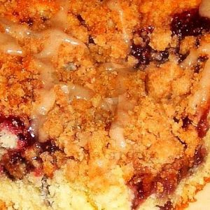 crumb cake with Rica Barreja filling