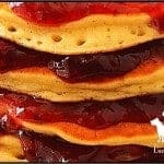 LunaGrown Cranberry Jam stacked pancakes