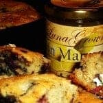 Blueberry Cheddar Biscuits with LunaGrown Lemon Marmalade