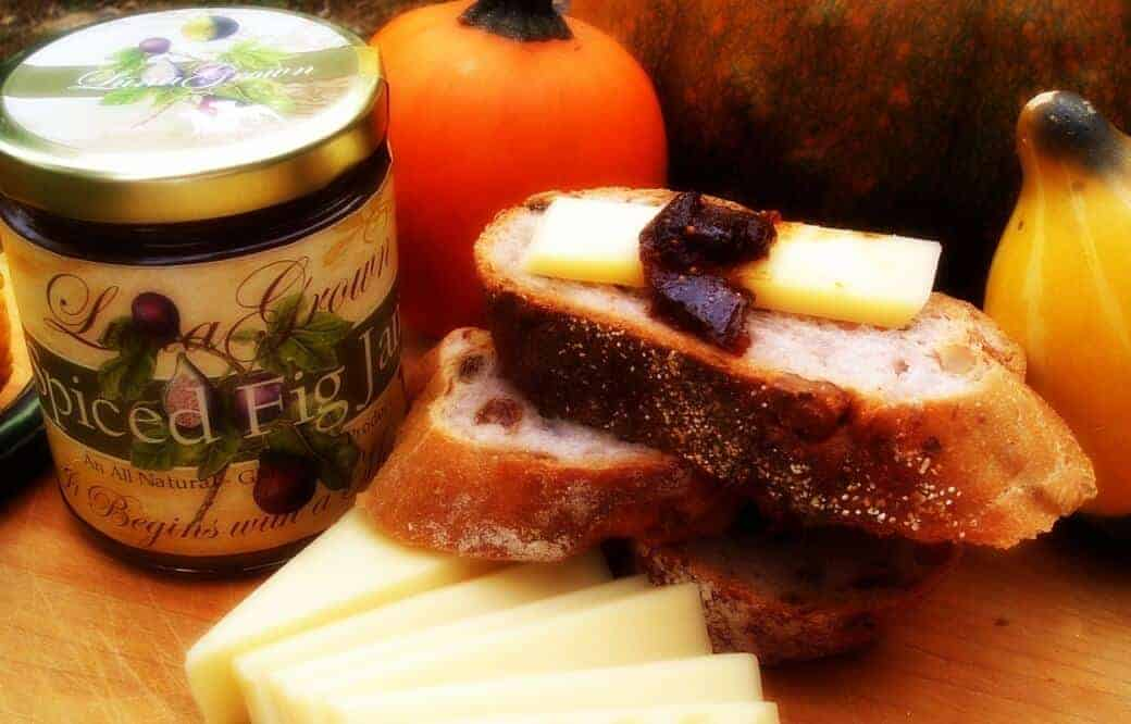 LunaGrown Fig Jam and Swiss on Bread