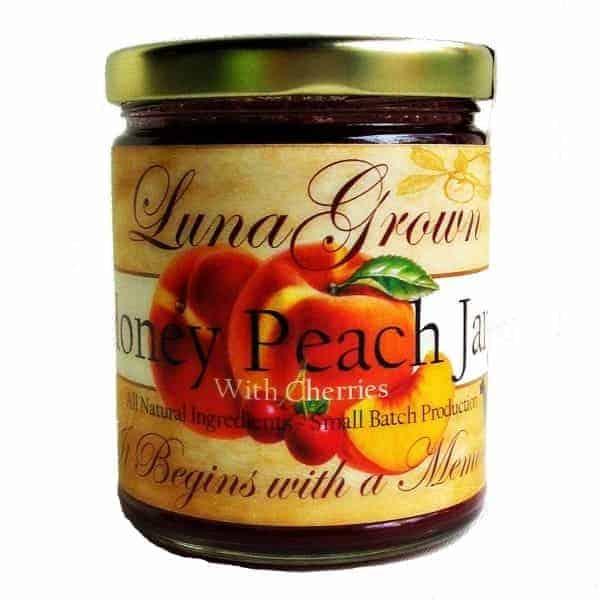 LunaGrown Honey Peach Jam with Cherries