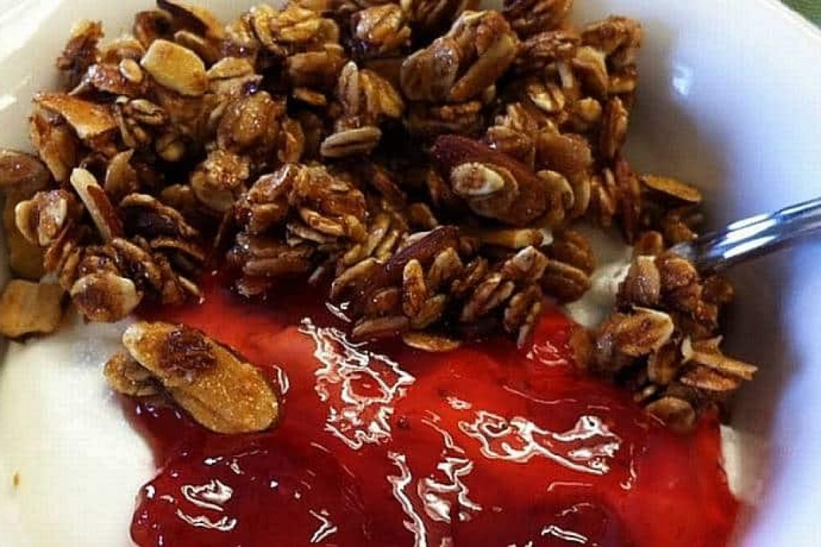 Granola, Jam and Yogurt Will Start Your Day Off Bright!