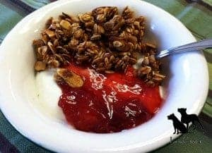LunaGrown Jam, Yogurt, and Granola. Perfect to keep you going!