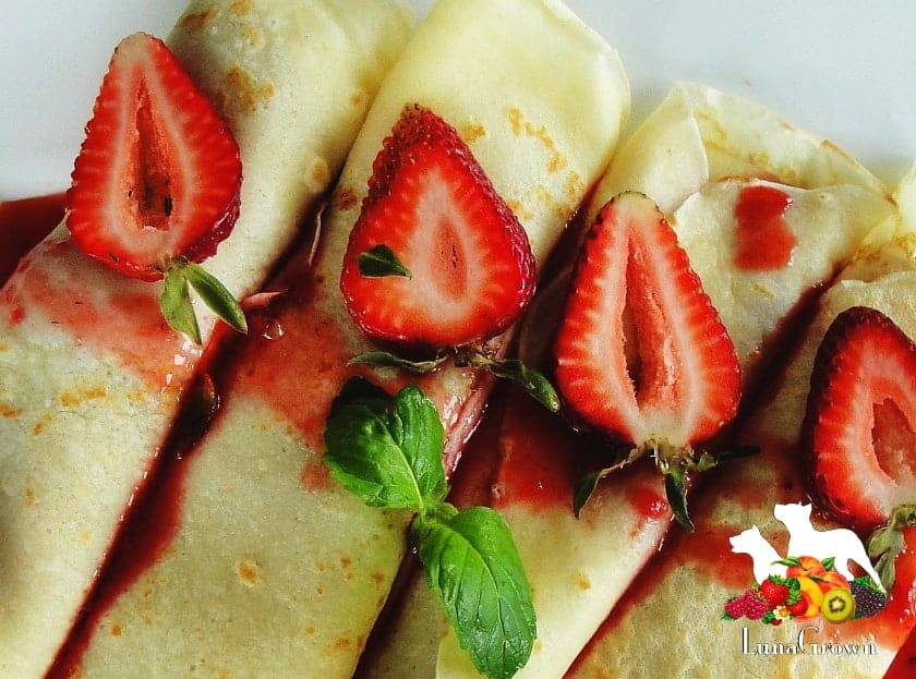 LunaGrown Strawberry Crepes