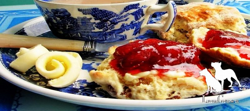 Tea with LunaGrown strawberry jam
