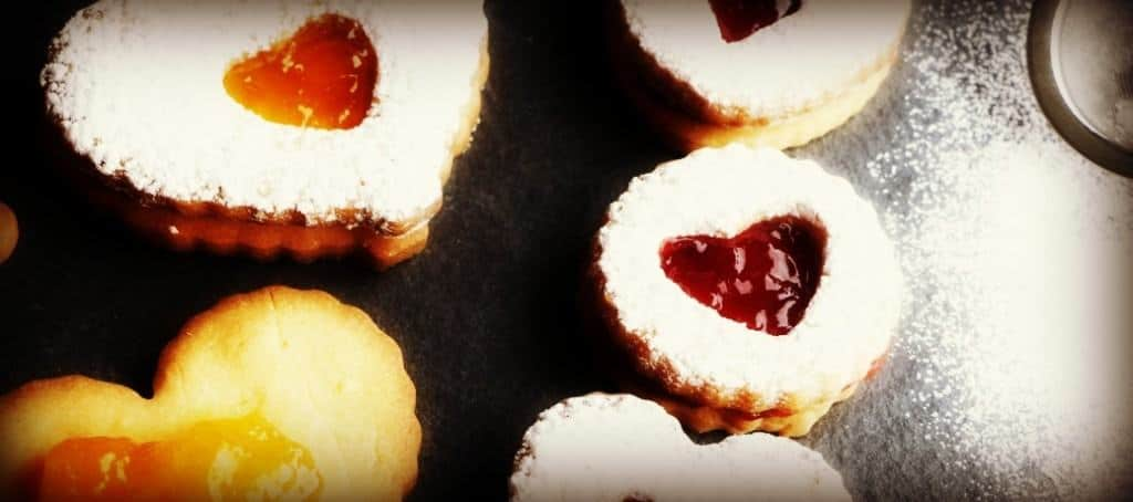 Jam Filled Valentine Cookies