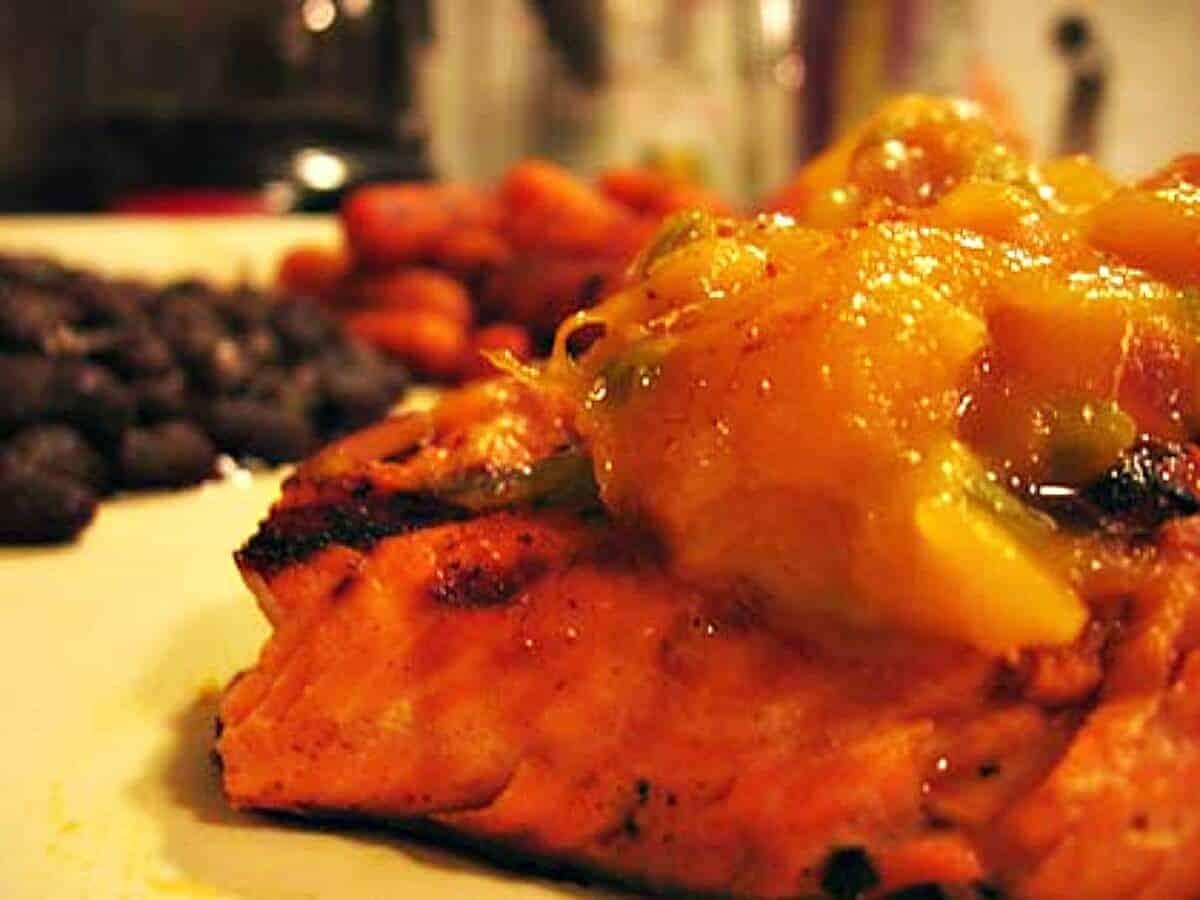 Mango Jam on Salmon