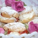 Plum Jam cream puffs