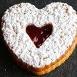 Jam Filled Valentine heart cookies