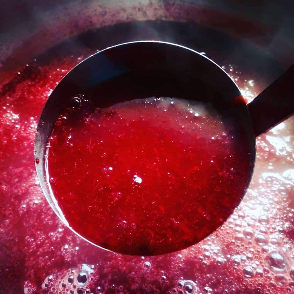 Honey Peach jam with Cherries