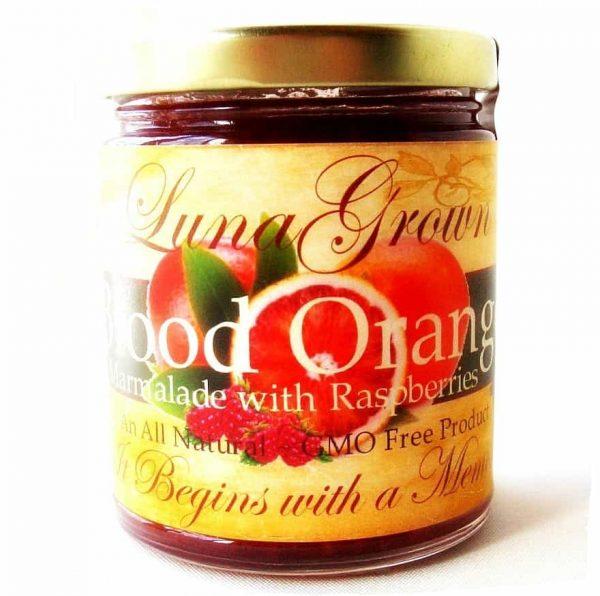 LunaGrown blood orange with raspberries