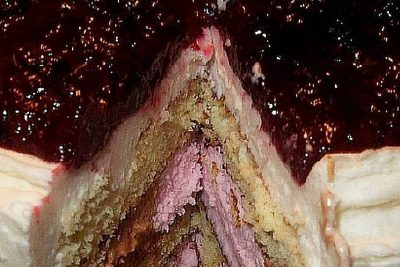 Ice Cream Cake with LunaGrown Blueberry Jam