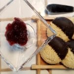 Cherry Berry Jam from LunaGrown with shortbread