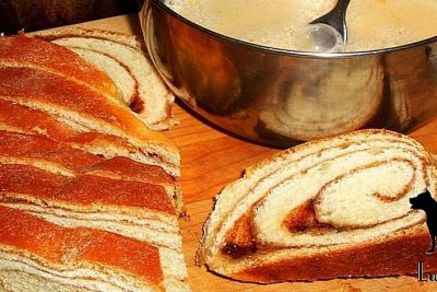 Cinnamon Bread with Jam