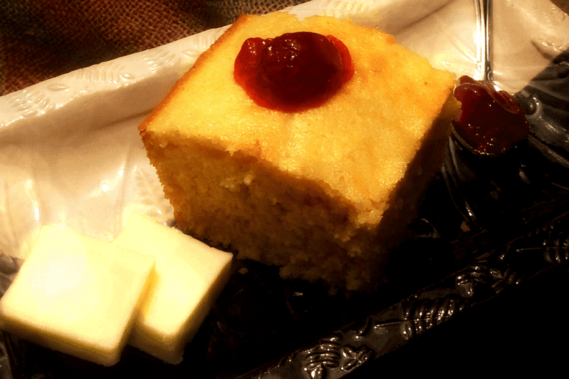 Sweet Northern Cornbread with LunaGrown Raspberry Jam
