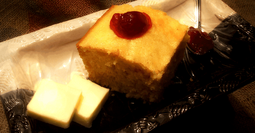 Sweet Northern Cornbread with Raspberry Jam