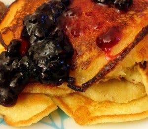 Elderberry Jam on Pancakes