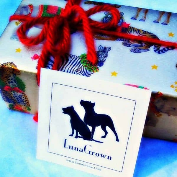 Holiday wrap LunaGrown Gift Package