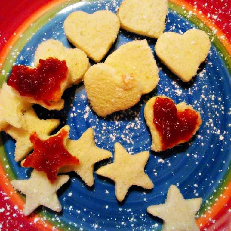 Cherry Jam Heart Toast