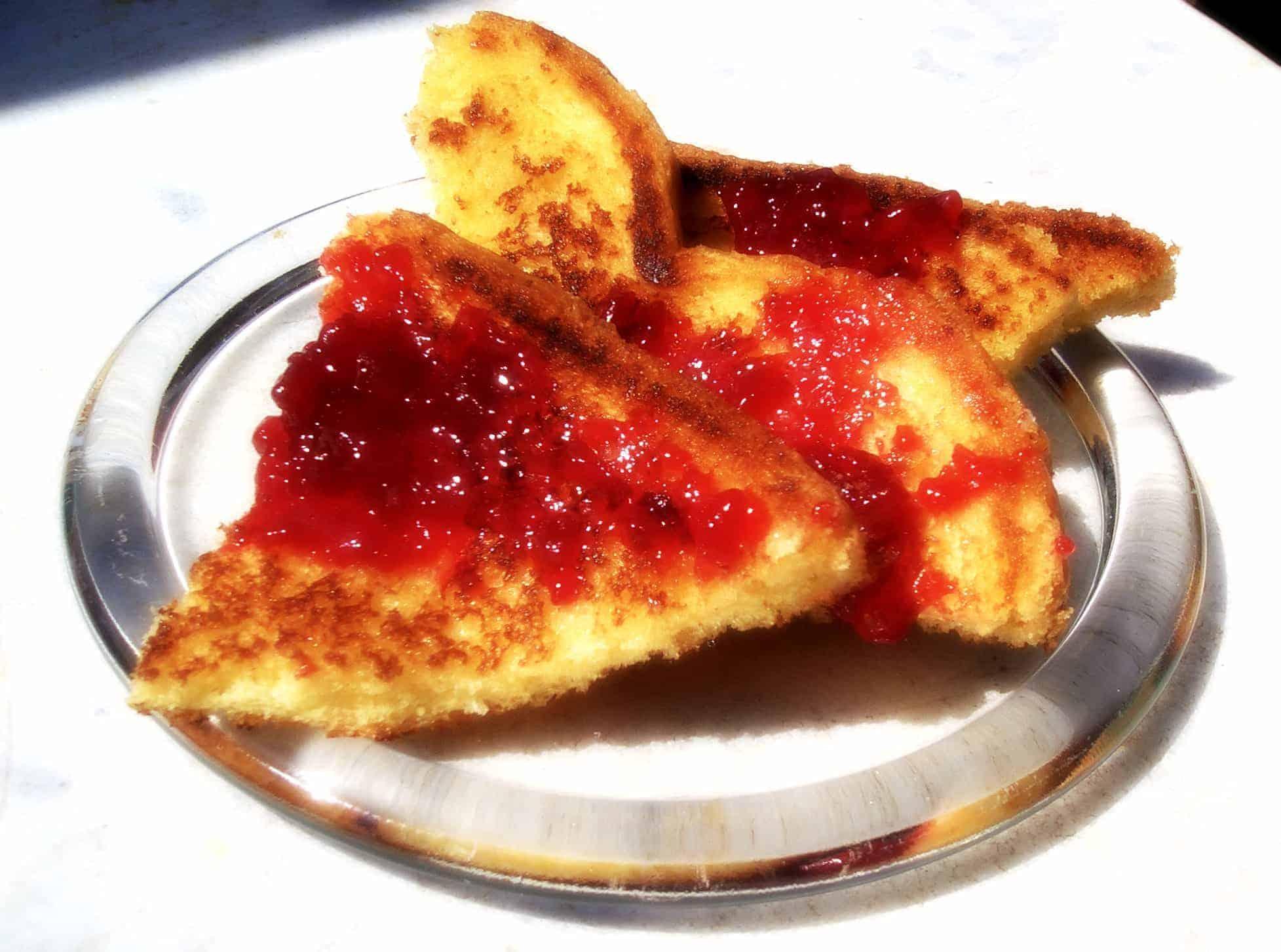 Honey peach on toast