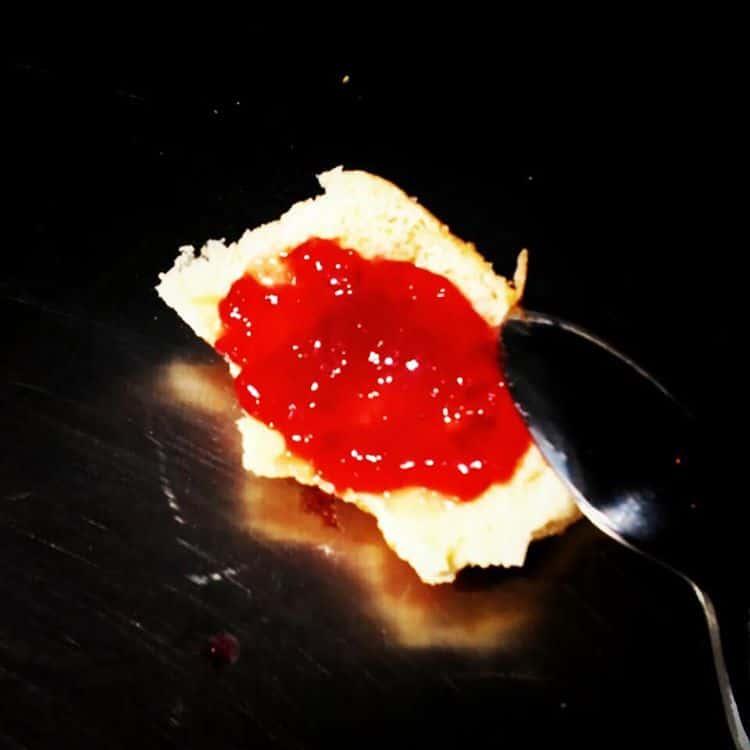 Honey peach with cherries