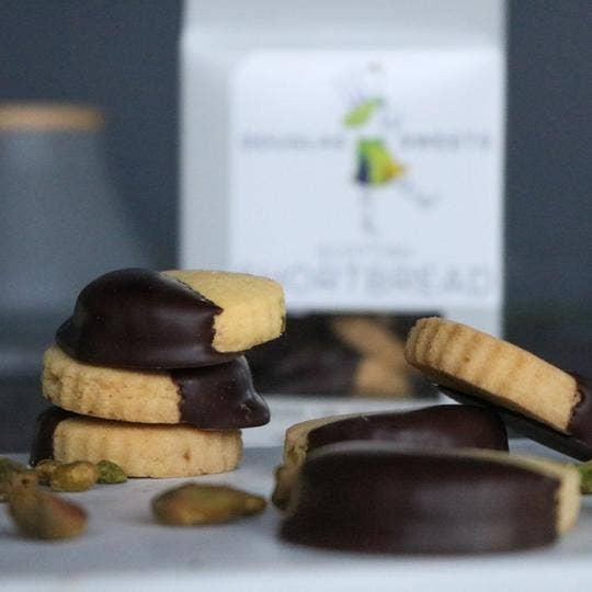 Pistachio Lavender Shortbread & Dark Chocolate 1