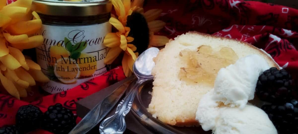 Rich Lemon Cake with Lemon Lavender Marmalade