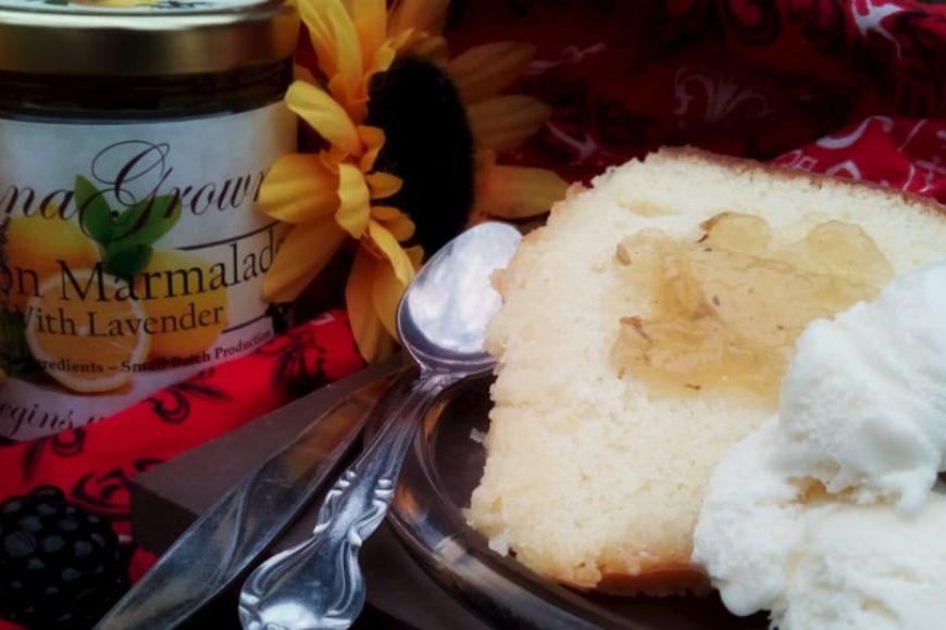 Rich Lemon Cake with Lemon Lavender Marmalade