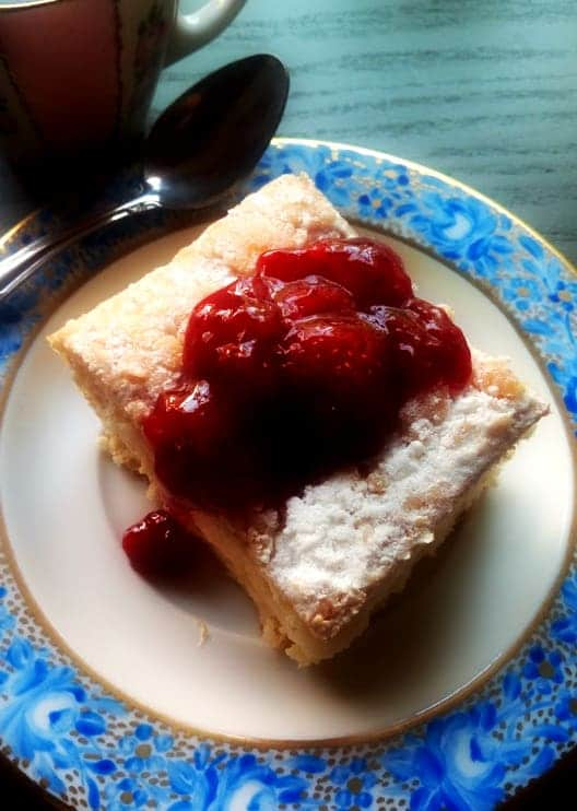 Strawberry Jam on Cream Cheese Pound Cake