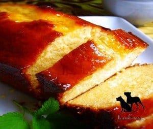 Pound cake with Marmalade Glaze