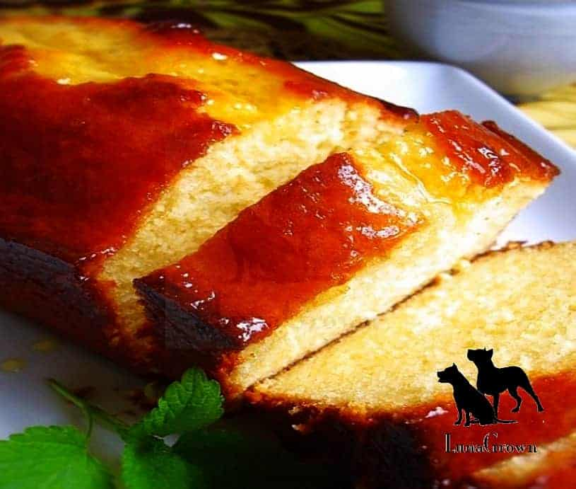 Pound cake with Marmalade Glaze