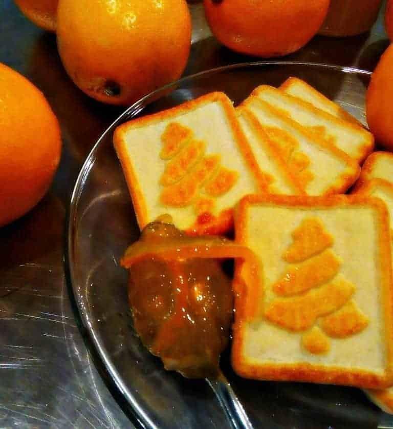 Meyer Lemon Marmalade with Cookies