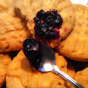 Soft Peanut Butter Cookies with LunaGrown NY Grape Jelly 1