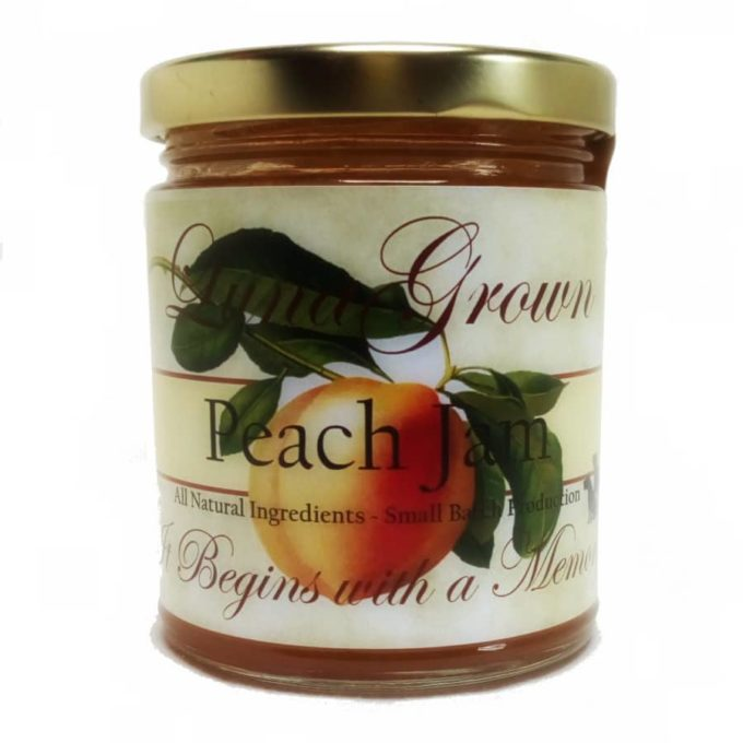 LunaGrown peach jam