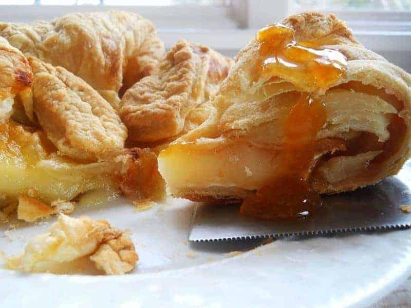 peach jam baked brie