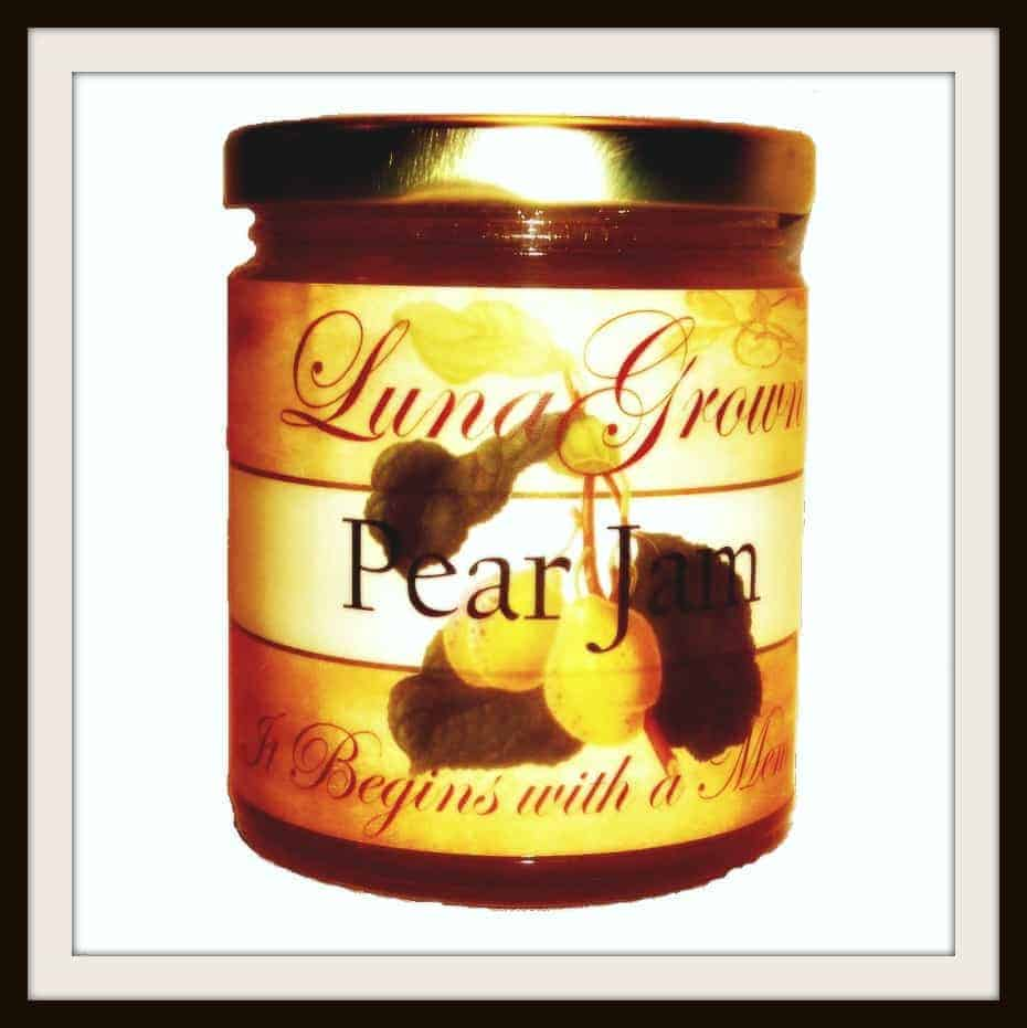 LunaGrown Pear Jam