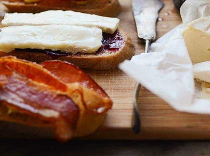 Plum Jam with cheese