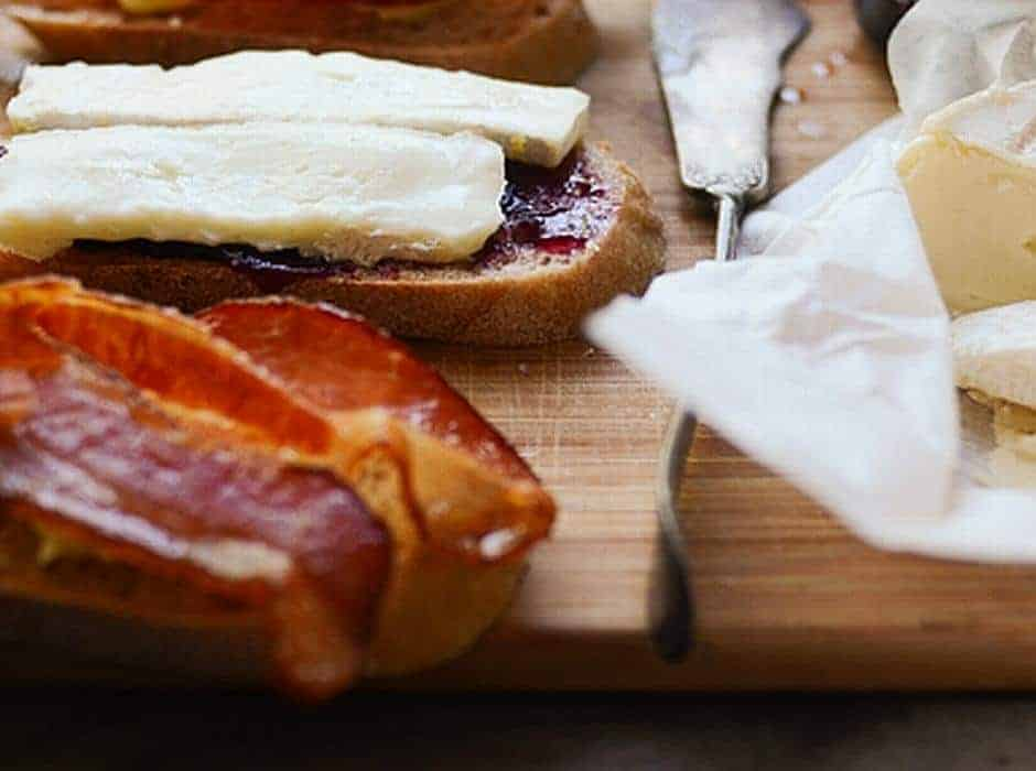 Plum Jam with cheese