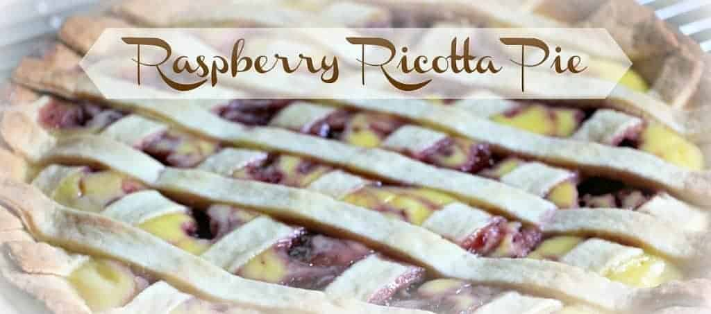 the farm girl cooks raspberry ricotta pie