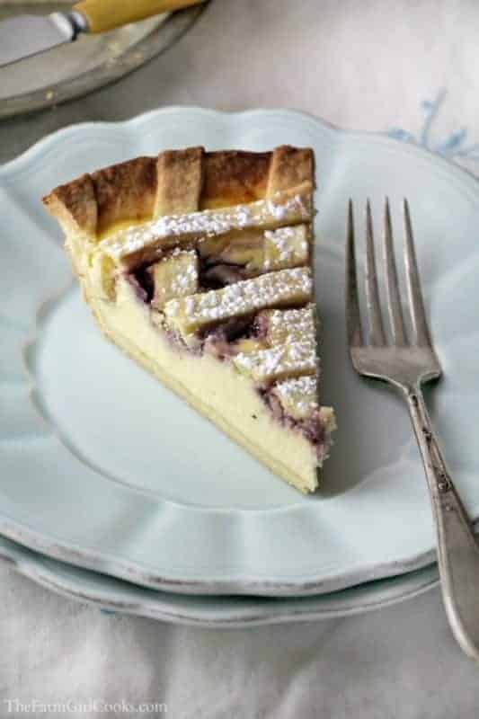 Raspberry Ricotta Pie