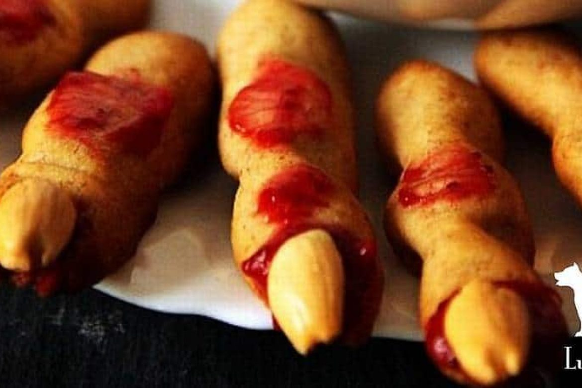 Bleeding Zombie Finger Cookies