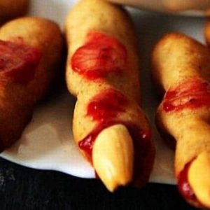 zombie finger cookies